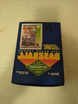1992 Score Baseball Series 1 Wax Box Unopened Factory Sealed