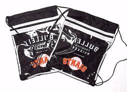 2 San Francisco Giants DRAWSTRING BACKPACK bags Black Stadiu