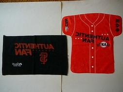 2 San Francisco SF Giants Authentic Fan Rally Towels From CS