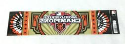 2012 World Series Champions San Francisco Giants Bumper Stic