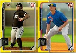 2015 BOWMAN PROSPECTS YELLOW PARALLEL SINGLES U PICK COMPLET