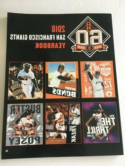 2018 SF San Francisco Giants Yearbook 60th Anniversary Magaz