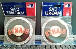 2x San Francisco S F Giants MAGNETS, Car Auto Fridge File Ca