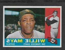 AWESOME CIGAR BOX FIND 1960 TOPPS #200 WILLIE MAYS MINT DEAD