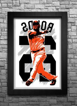 BARRY BONDS art print/poster SAN FRANCISCO GIANTS FREE S&H!