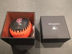 Coach x MLB San Francisco Giants Leather Baseball Paperweigh