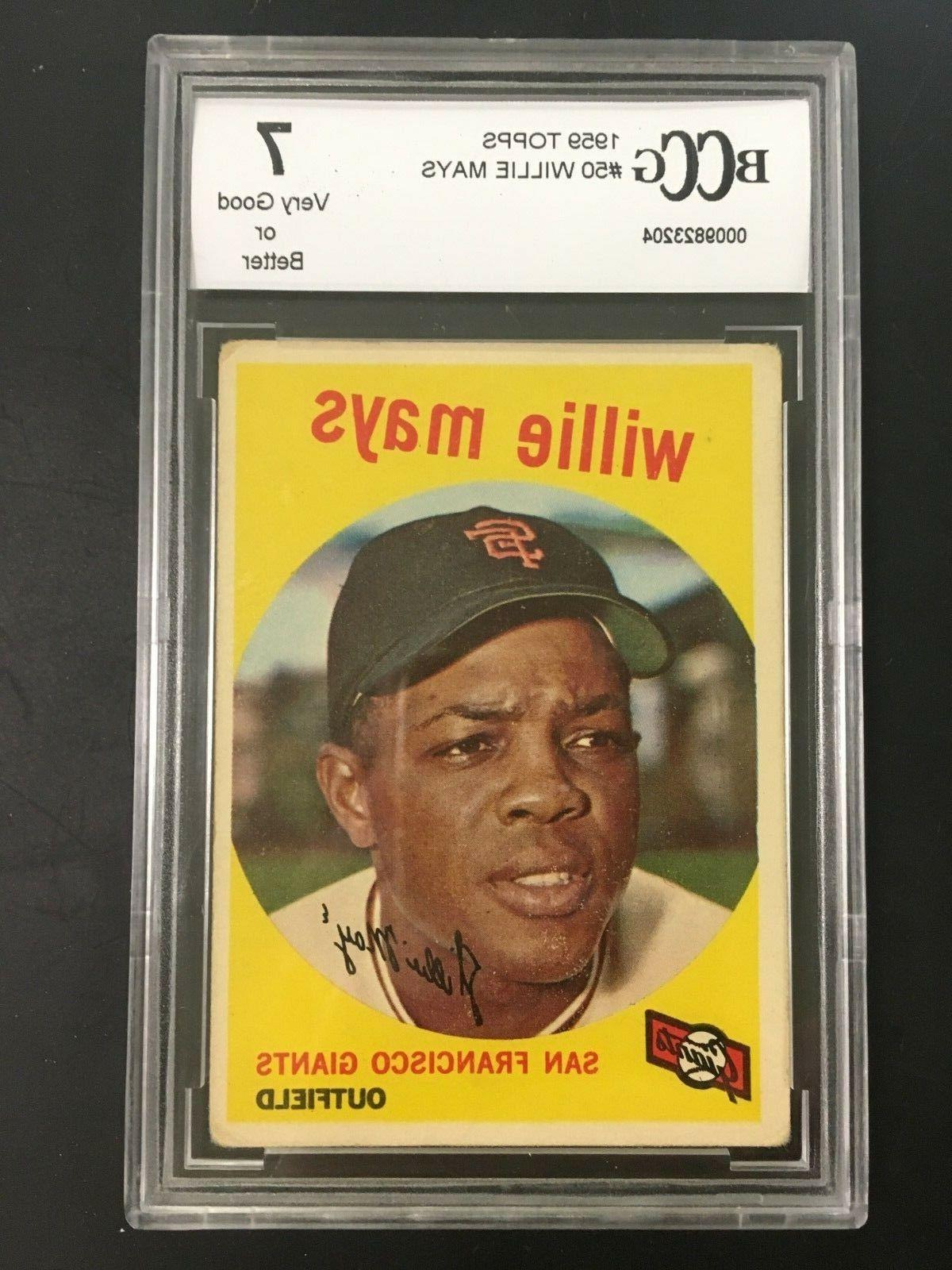 1959 topps 50 willie mays san francisco