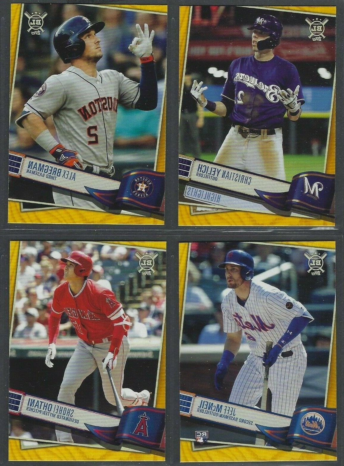 2019 topps big league gold parallels complete