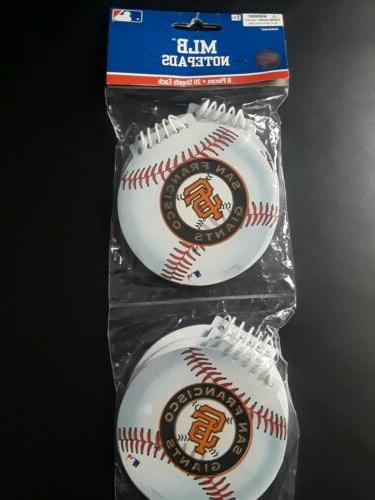 Amscan MLB San Francisco Giants Notepads, 8 Packs of station