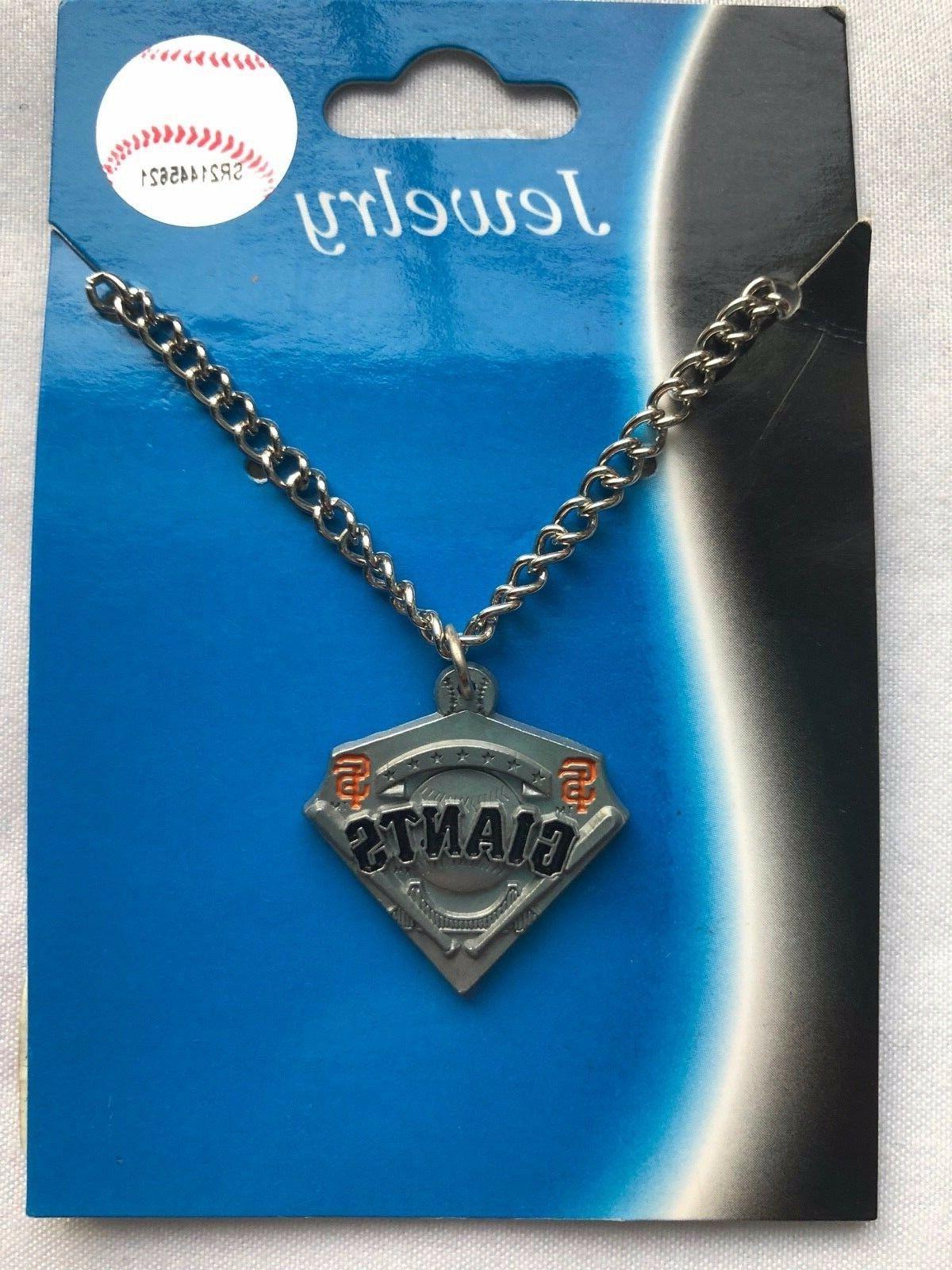 mlb san francisco giants pendant chain necklace