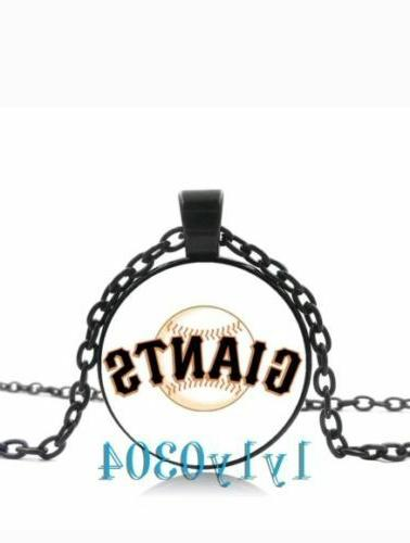 new san francisco giants glass cabochon necklace