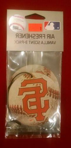 SAN FRANCISCO GIANTS AIR FRESHENER  VANILLA OR NEW CAR SCENT
