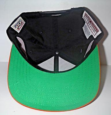 San Black Orange Snapback Cap NWT American