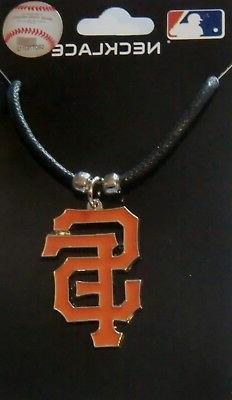 San Francisco Giants Cord Necklace w/ Logo Charm MLB License