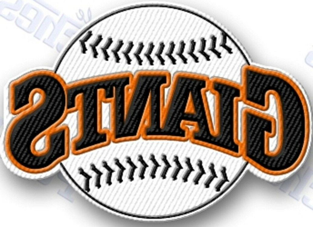 san francisco giants iron on embroidered embroidery