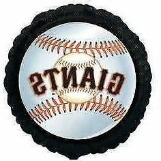 "San Francisco GIANTS MLB Team Logo 18"" Round Foil Mylar Base"