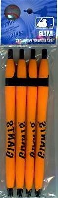 San Francisco Giants Official MLB Click Ink Pens - 4 Pack -