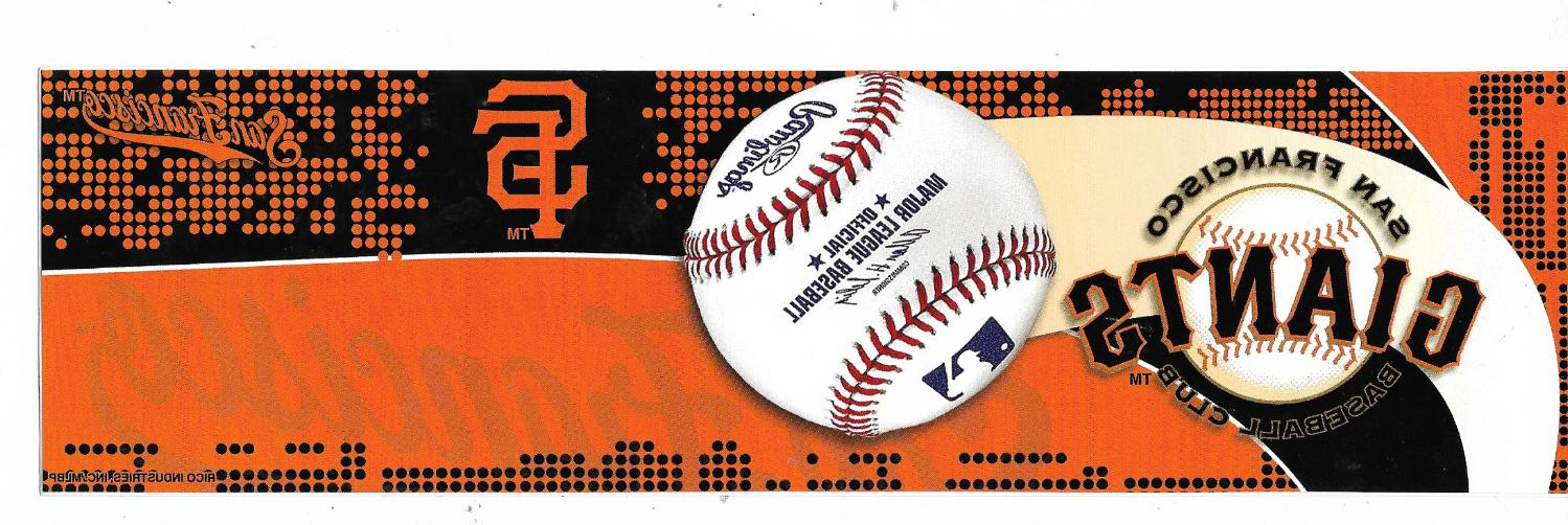san francisco giants officially licensed bumper sticker