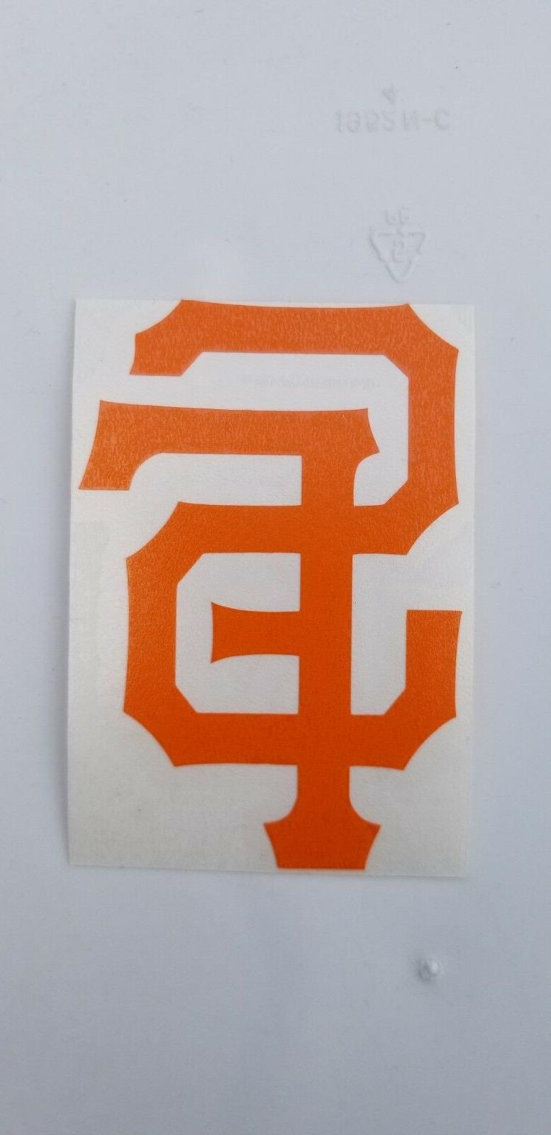 San Francisco logo Orange Black White Car Window