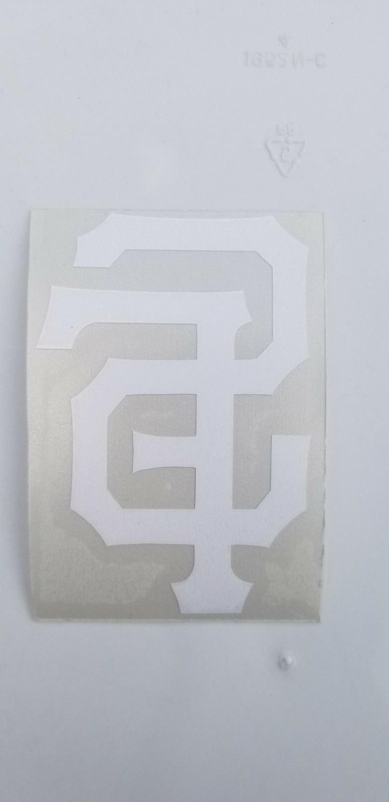 San Giants logo Orange White Vinyl Decal Car