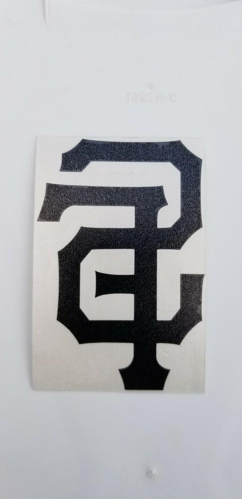 """San logo 3"""" Orange Black White Decal Car"""