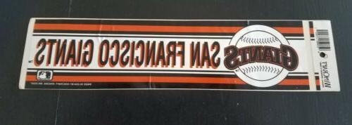 vintage san francisco giants bumper sticker