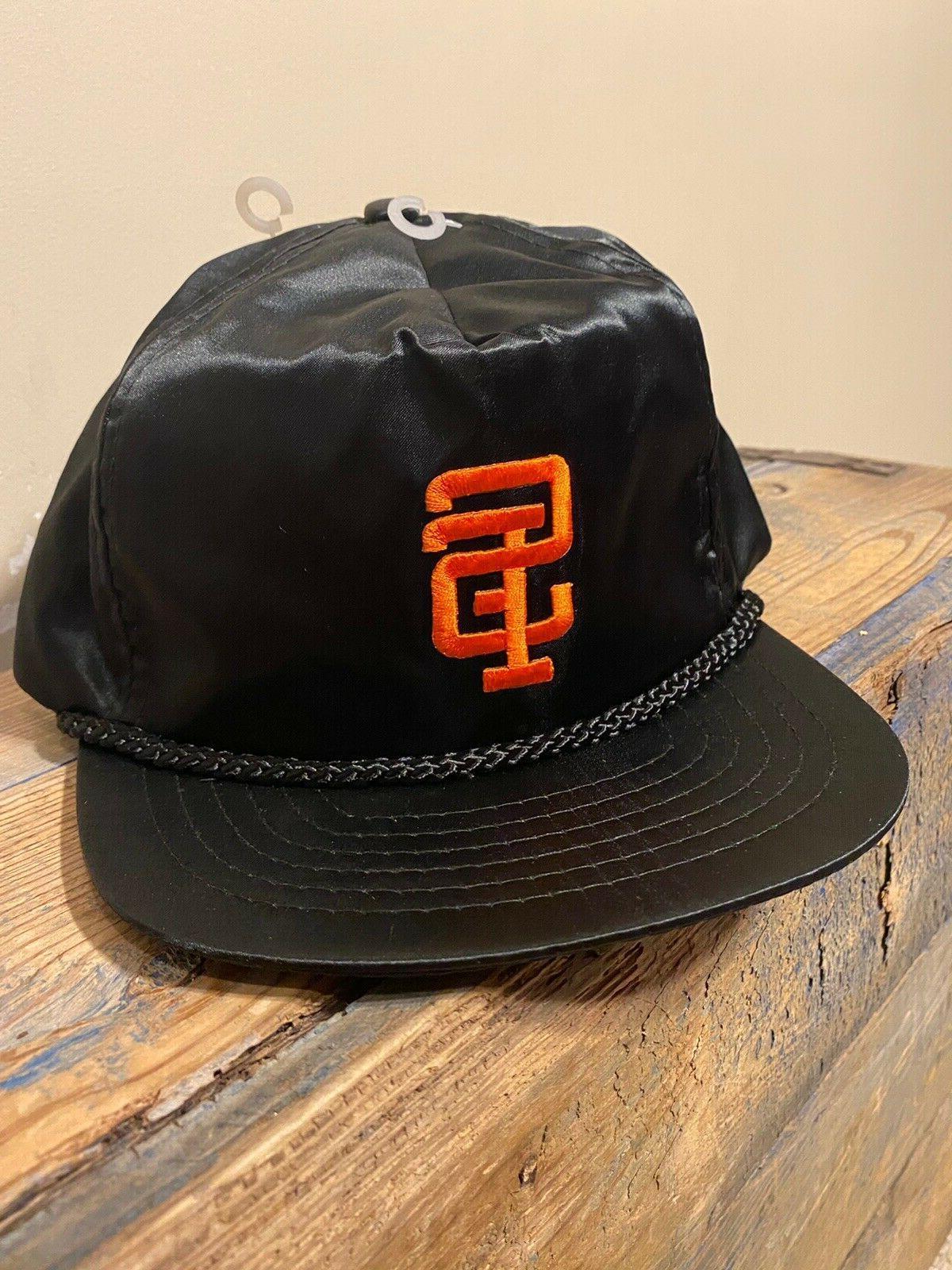 Vintage San Francisco Nylon Satin Hat Adjustable Black Deadstock