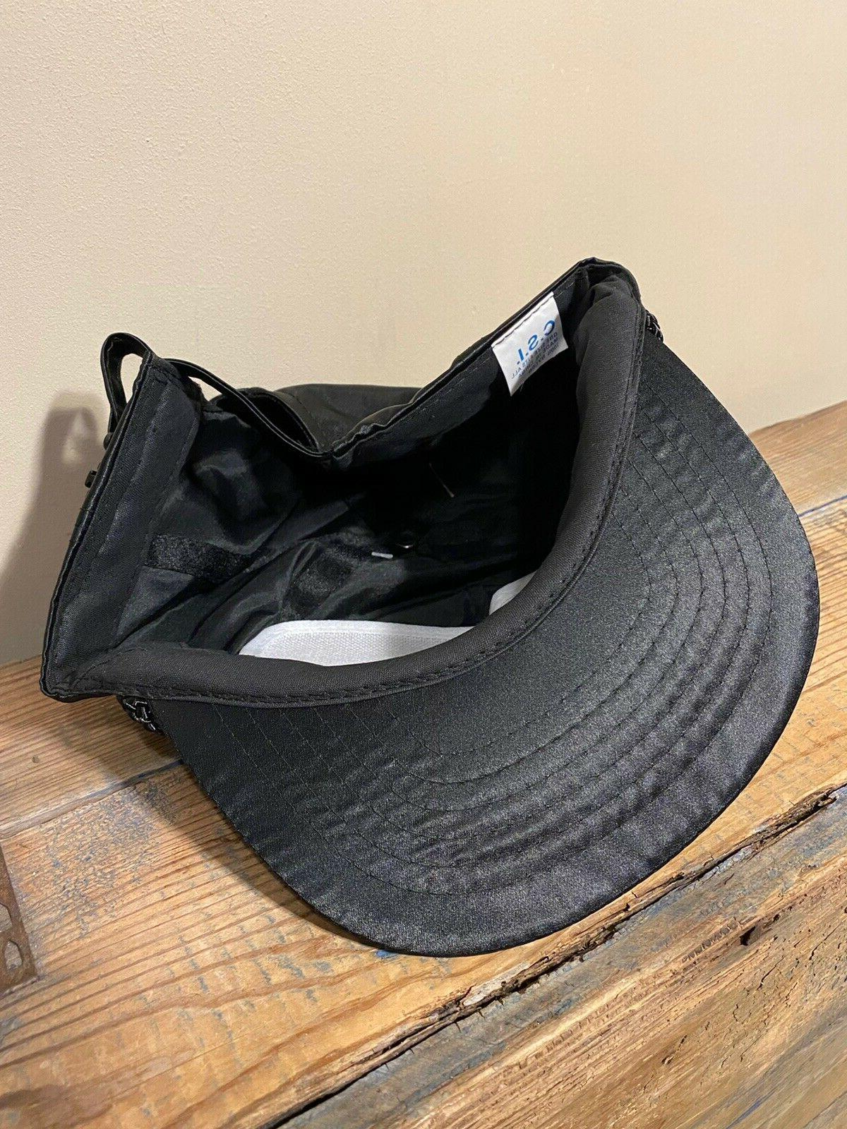 Vintage Francisco Nylon Satin Hat Adjustable Black NOS