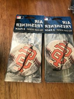 LOT OF 2 PACKS San Francisco Giants 3 Pack Air Freshener