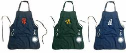 Mens Grilling Utility Apron With Bottle Opener , Bottle and