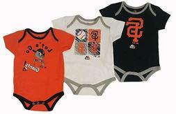 Majestic MLB Infant San Francisco Giants Go Team! Three Pack