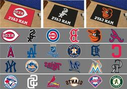 """MLB Man Cave Starter Mat Area Rugs 19"""" x 30"""" All Teams"""