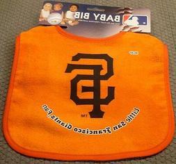 MLB NWT INFANT BABY BIB- ORANGE - SAN FRANCISCO GIANTS