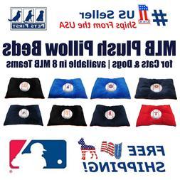 MLB Pet Plush Pillow Bed - Licensed Soft and Cozy Premium Pi