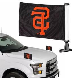 MLB San Francisco Giants Ambassador Hood / Trunk Car Flag- S