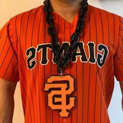 MLB San Francisco Giants Black Chain Necklace w/ Foam Magnet
