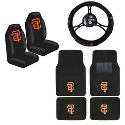MLB San Francisco Giants Car Truck Seat Covers Floor Mats St