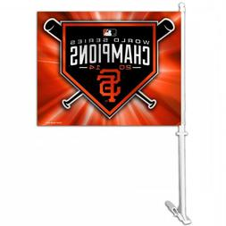 MLB San Francisco Giants Champions Logo Heavy Duty Car Flag