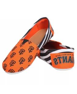 MLB San Francisco Giants Ladies Canvas Stripe Shoes Slippers