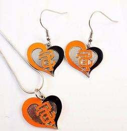 MLB San Francisco Giants Necklace/Earring Set BASEBALL sport