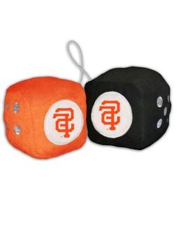 mlb san francisco giants plush fuzzy dice