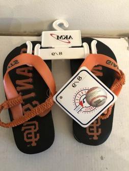MLB San Francisco Giants Toddler Kids Flip Flops Sandals Sho