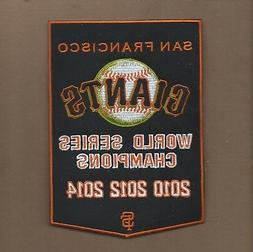 NEW 5 X7 INCH SAN FRANCISCO GIANTS DYNASTY BANNER IRON ON PA