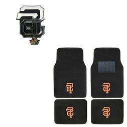 New 5pc MLB San Francisco Giants Car Truck Floor Mats & Chro