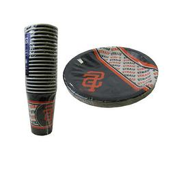 New MLB San Francisco Giants 40 Disposable Paper Plates Cups