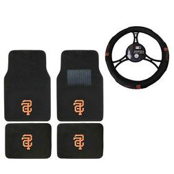 New MLB San Francisco Giants Car Truck Carpet Floor Mats Ste