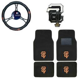 New MLB San Francisco Giants Car Truck Floor Mats Steering W