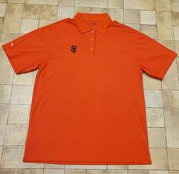 New San Francisco Giants Nike Golf Polo XL Orange Dri Fit