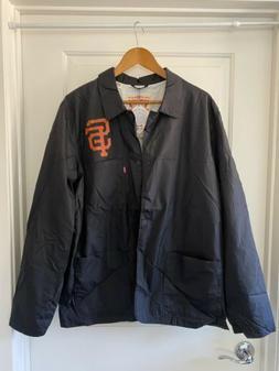 NWT LEVI'S SAN FRANCISCO GIANTS CLUB COAT JACKET SZ XL black