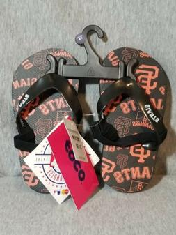 NWT MLB SAN FRANCISCO GIANTS  TODDLER YOUTH FLIP FLOP FLOPS